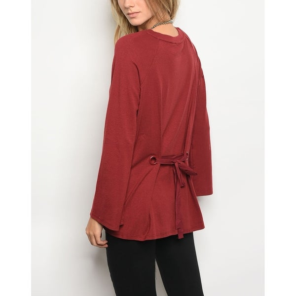 51e169400f Shop JED Women s Long Sleeve Top with Back Tie Detail - On Sale ...