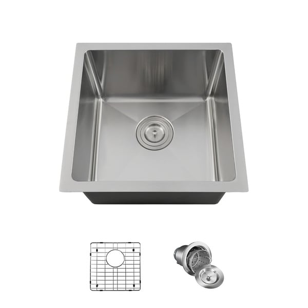 1717 single bowl 34 stainless steel sink grid and basket strainer - Stainless Steel Sink Grid