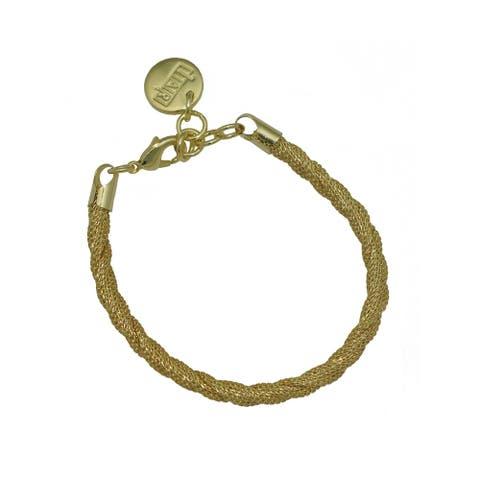 Isla Simone Fine Silver Plated Perline 36mm Wide Bracelet
