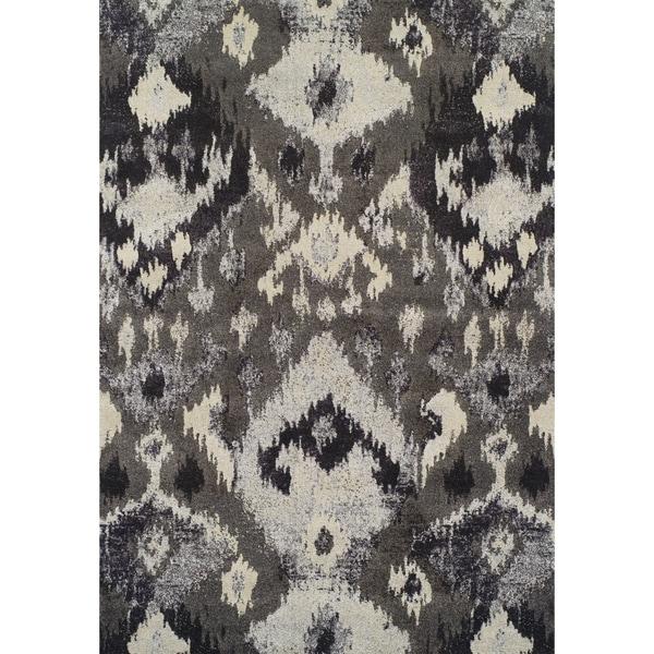 Addison Platinum Ikat Gray/Silver Area Rug (3'3 x 5'3)