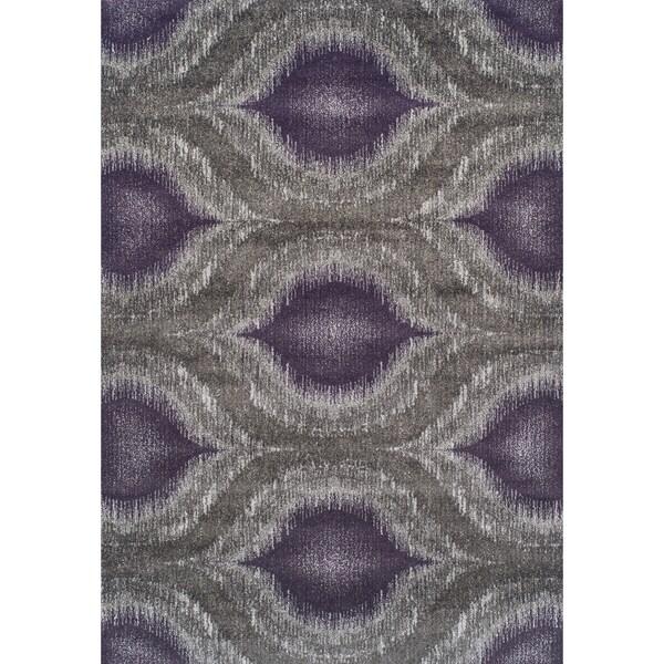 Addison Platinum Collection Nebulous Eggplant/Grey Area Rug