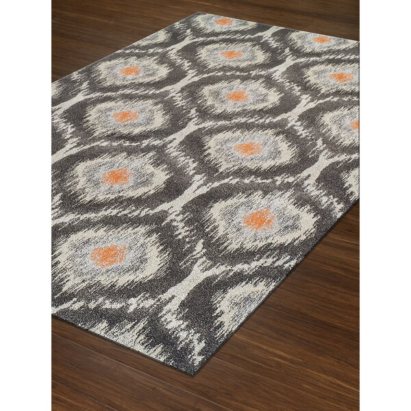 Addison Platinum Grey Ivory Orange Moroccan Area Rug 9 6 X 13 2 Free Shipping Today 24407005