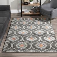 Addison Platinum Grey/Ivory/Orange Moroccan Area Rug (9'6 x 13'2)