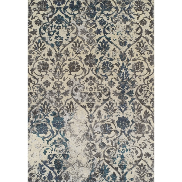 platinum collection grey ivory peacock distressed damask