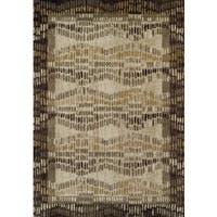 Addison Blair Beige/Taupe Hourglass Weave Area Rug