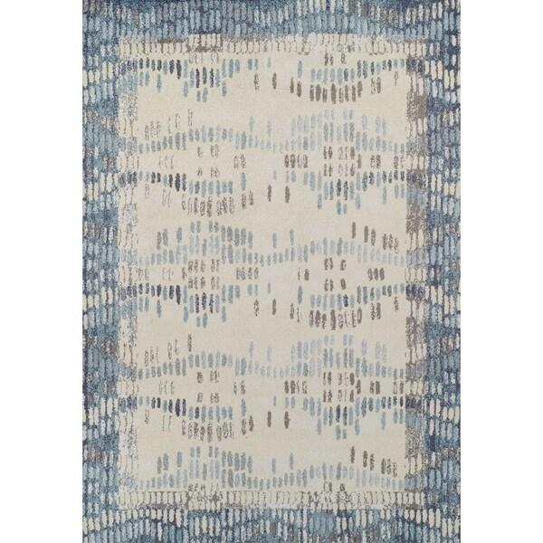 Addison Blair Hourglass Weave Blue/Beige/Gray Area Rug