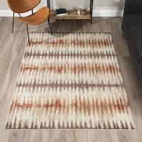 Addison Blair Spice/Rust/Taupe Tribal Striped Area Rug