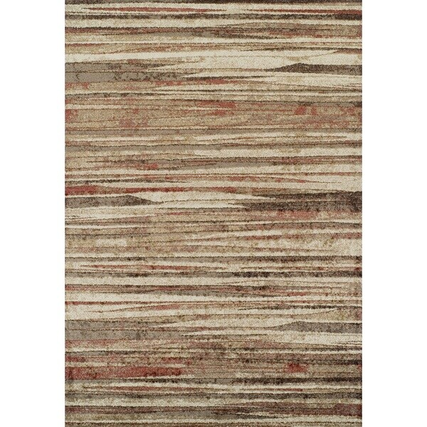 ADDISON Blair Abstract Striped Spice/Beige Area Rug (3u0026#x27 ...