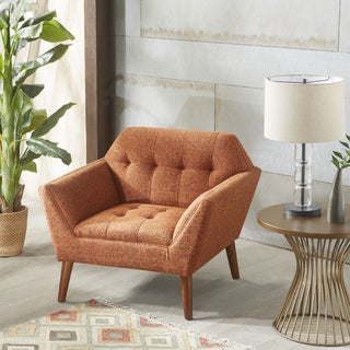 Ink+Ivy Newport Orange Fabric Lounge Chair