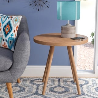 Corvus Lille Mid-century Bamboo End Table (3 options available)
