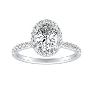 Auriya 14k Gold 1ct TDW Oval-cut Diamond Engagement Ring