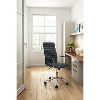 Pivot Vintage Black Faux-leather Office Chair