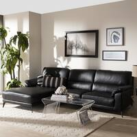 Modern Left Facing Chaise Sectional Sofa by Baxton Studio