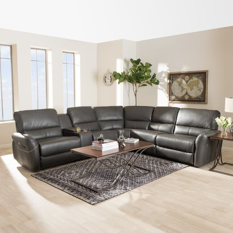 Buy Grey, Leather Sectional Sofas Online at Overstock | Our ...