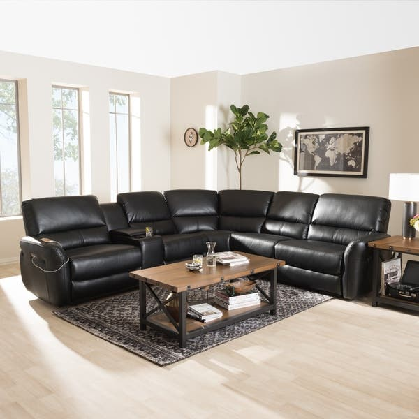 Groovy Shop Modern Bonded Leather Power Reclining Sectional Sofa By Machost Co Dining Chair Design Ideas Machostcouk