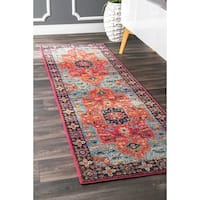 The Curated Nomad Rodriguez Traditional Bohemian Crux Medallion Runner Rug