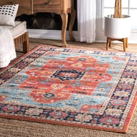 The Curated Nomad Rodriguez Bohemian Crux Medallion Area Rug - 5' x 7'5