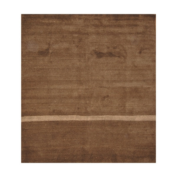 Handmade Herat Oriental Indo Hand-knotted Moroccan Wool Area Rug (8' x 9')