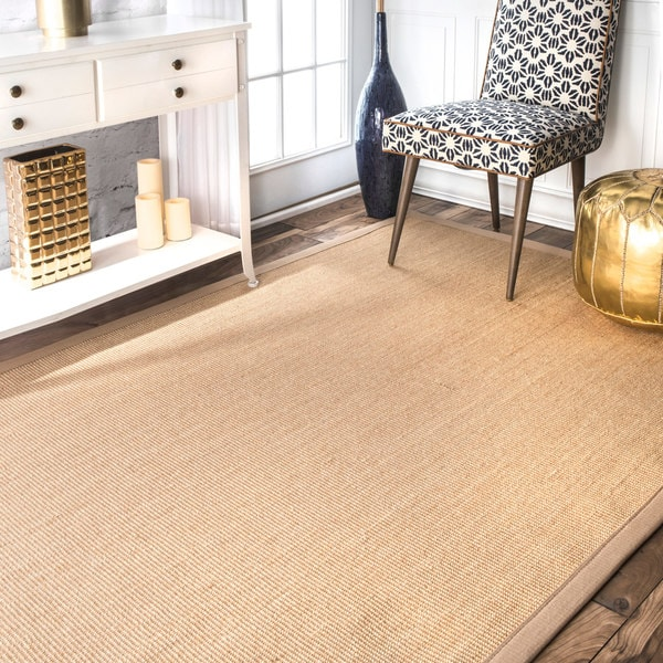 Havenside Home Clearwater Natural Cotton/ Sisal Handmade Eco Border Square Area Rug - 8' Square
