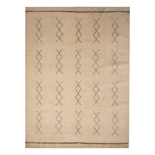 Handmade Herat Oriental Indo Hand-knotted Moroccan Wool Area Rug - 9' x 12' (India)