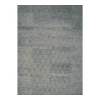 Handmade Herat Oriental Indo Hand-knotted Moroccan Wool Area Rug - 10' x 14'