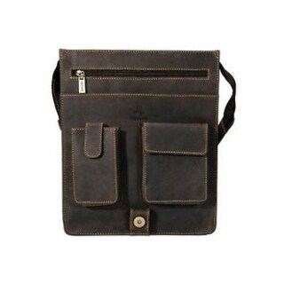 Visconti 18410 Large Leather Organizer Messenger/ Shoulder Bag