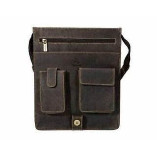Visconti 18410 Large Leather Organizer Messenger/ Shoulder Bag (4 options available)