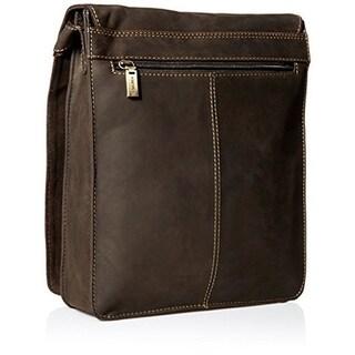 Visconti 18410 Large Leather Organizer Messenger/ Shoulder Bag
