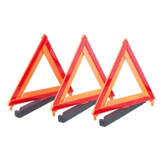 Max Load 3 Pack Auto Emergency Warning Triangles