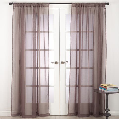 Zephyr Collection Rod Pocket Sheer Window Curtain Panel