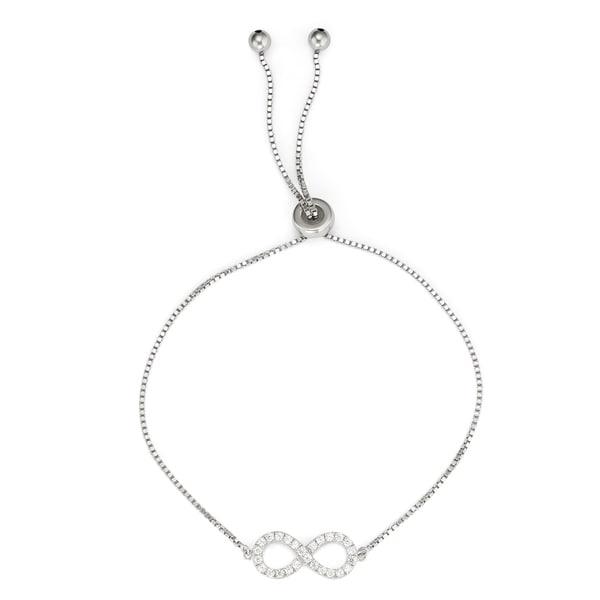 Shop Isla Simone 925 Sterling Silver Drawstring Clear Cz Stone