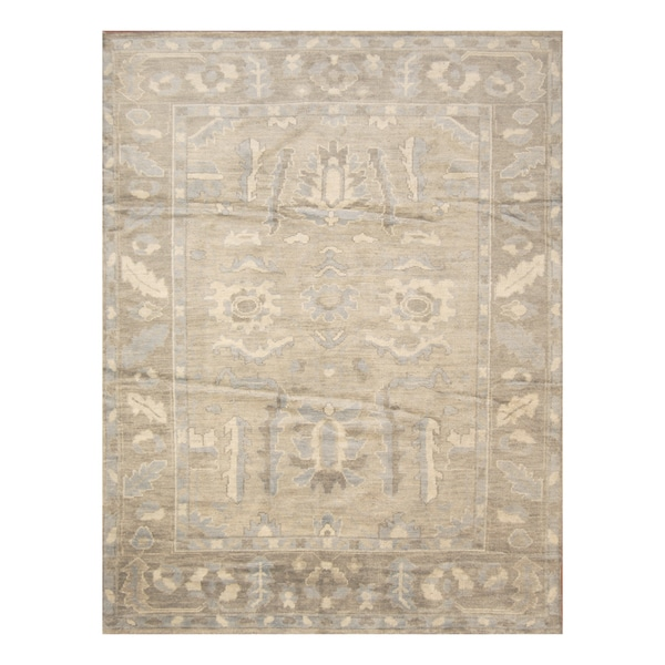 Handmade Herat Oriental Indo Hand-knotted Moroccan Overdye Wool Area Rug - 7'6 x 9'6 (India)