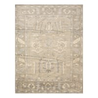 Handmade Herat Oriental Indo Hand-knotted Moroccan Overdye Wool Area Rug - 7'6 x 9'6
