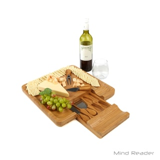 Mind Reader Bamboo Cheese and Snack Tray