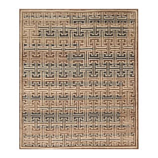 Handmade Herat Oriental Indo Hand-knotted Moroccan Wool Area Rug (India) - 8' x 9'8