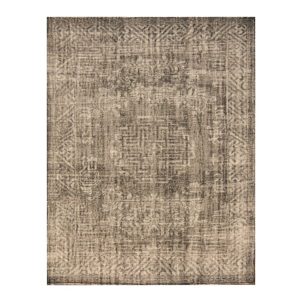 Handmade Herat Oriental Indo Hand-knotted Moroccan Overdye Wool Area Rug (7'8 x 9'9) - 7'8 x 9'9