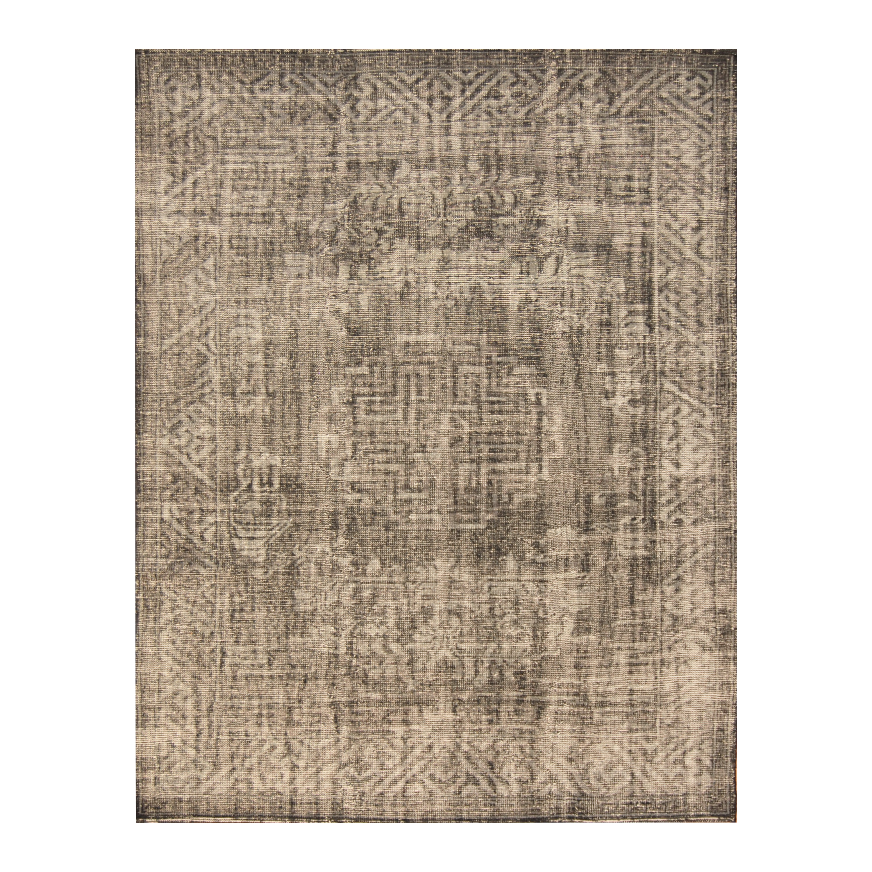 Handmade Herat Oriental Indo Hand-knotted Moroccan Overdye Wool Area Rug (India) - 78 x 99 (Handmade Indo Moroccan Overdye Wool Area Rug)