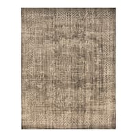 Handmade Herat Oriental Indo Hand-knotted Moroccan Overdye Wool Area Rug - 7'8 x 9'9 (India)