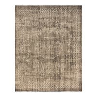 Handmade Herat Oriental Indo Hand-knotted Moroccan Overdye Wool Area Rug - 7'8 x 9'9