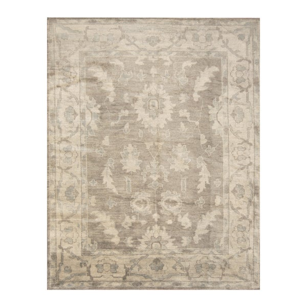 Handmade Herat Oriental Indo Hand-knotted Moroccan Overdye Wool Area Rug - 7'9 x 9'9