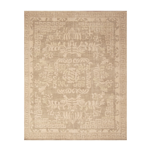 Handmade Herat Oriental Indo Hand-knotted Moroccan Overdye Wool Area Rug - 8' x 10' (India)