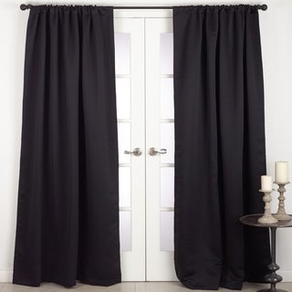 Solid Rod Pocket Blackout Window Curtain Panel