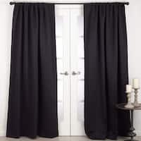 Solid Rod Pocket Blackout Window Curtain Panel