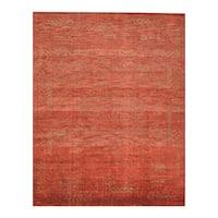 Handmade Herat Oriental Indo Hand-knotted Moroccan Overdye Wool Area Rug (8' x 9'9) - 8' x 9'9