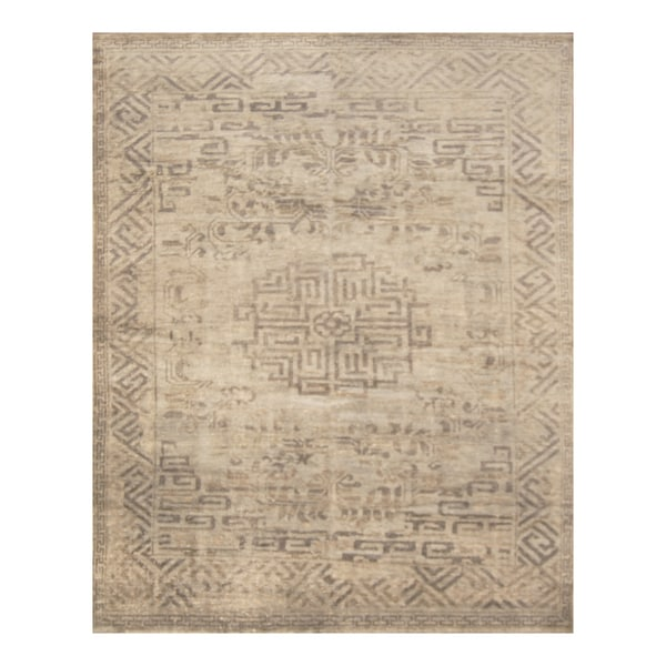 Handmade Herat Oriental Indo Hand-knotted Moroccan Overdye Wool Area Rug (7'5 x 9'9)
