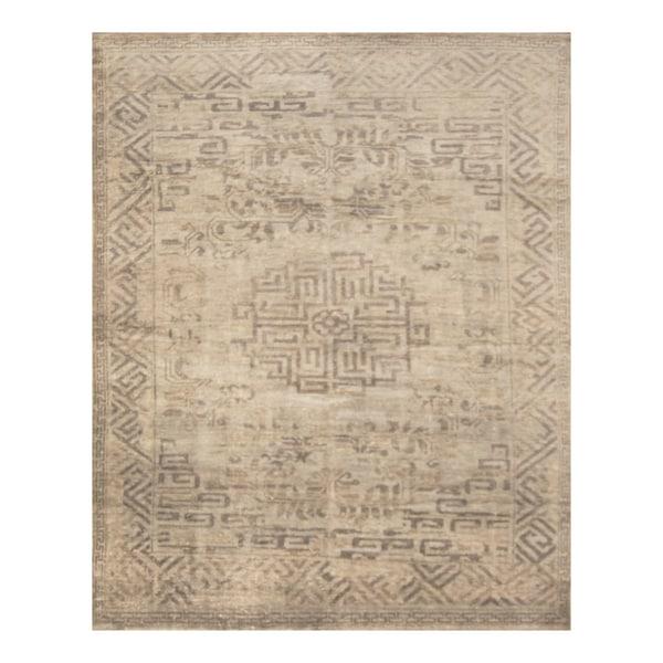Handmade Herat Oriental Indo Hand-knotted Moroccan Overdye Wool Area Rug - 7'5 x 9'9