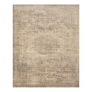 Handmade Herat Oriental Indo Hand-knotted Moroccan Overdye Wool Area Rug (India) - 7'5 x 9'9