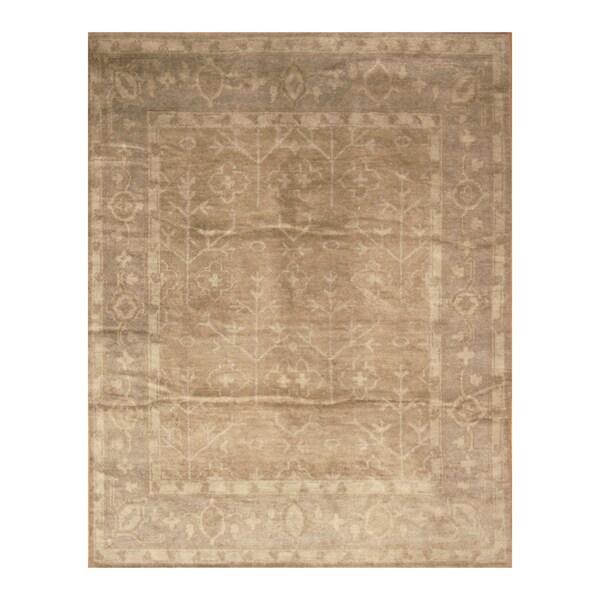 Handmade Herat Oriental Indo Hand-knotted Moroccan Overdye Wool Area Rug - 7'6 x 9'6