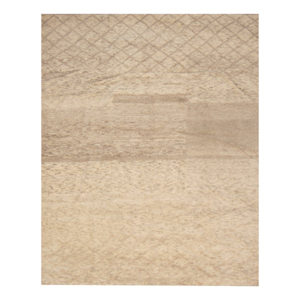 Handmade Herat Oriental Indo Hand-knotted Moroccan Wool Area Rug - 8' x 10'