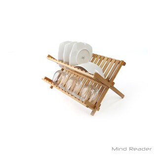 Mind Reader Bamboo Dish Drying Rack